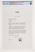 Explorers:Space Exploration, Bob Hope: Personal Typed Letter Signed with Golf Tournament Invitation, Dated May 27, 1988, Directly From The Armstrong Family...