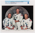 Explorers:Space Exploration, Stephen K. Armstrong: Apollo 11 White Spacesuit Crew Color Photo Signed by Neil Armstrong's Father, Directly From The Arms...
