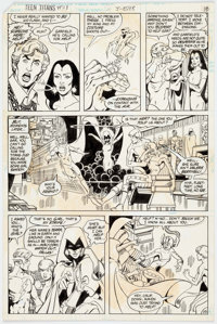 George Pérez and Romeo Tanghal The New Teen Titans #28 Story Page 15 Original Art (DC, 1983)