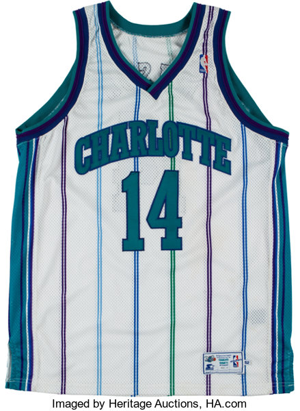 hot sale online 99678 a7dd3 1998-2000 Anthony Mason Game Worn & Signed Charlotte Hornets ...