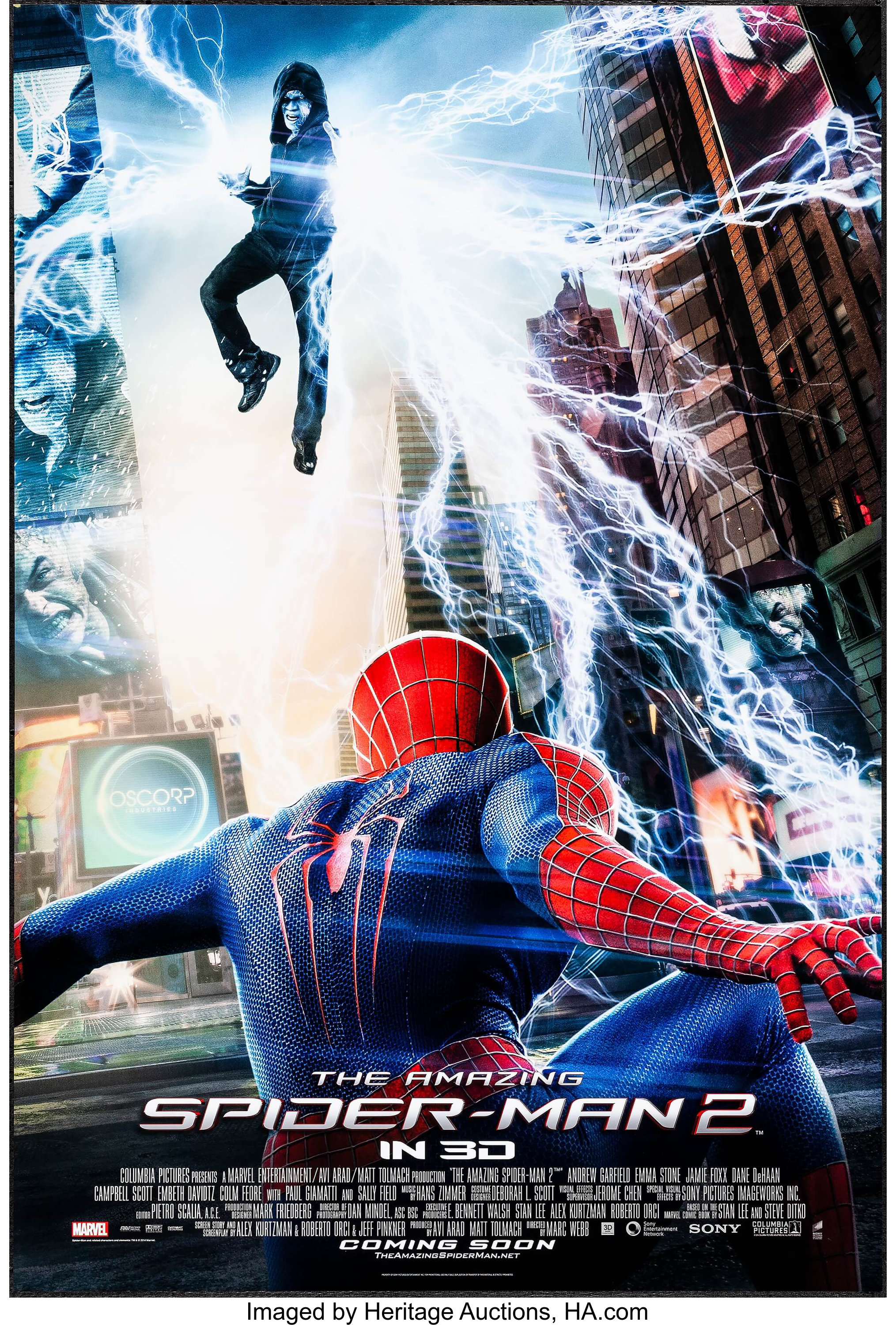The Amazing Spider Man 2 Sony 2014 One Sheet 27 X 40 Ds Lot 51019 Heritage Auctions