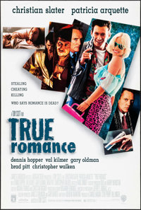 """True Romance (Warner Brothers, 1993). One Sheet (27"""" X 40.25"""") DS. Crime"""