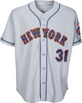 Baseball Collectibles:Uniforms, 2001 Mike Piazza Game Worn New York Mets Jersey - Great CatcherWear. ...