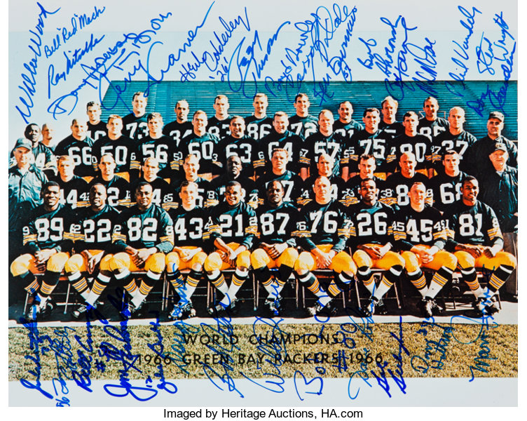 d68232cb 1966 Green Bay Packers Team Signed Photograph (Reunion). ...   Lot ...