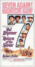 """Movie Posters:Western, Return of the Seven (United Artists, 1966). Folded, Very Fine.Three Sheet (41"""" X 79""""). Western.. ..."""