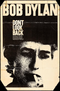 """Don't Look Back (Leacock-Pennebaker, 1967). One Sheet (Approximately 27"""" X 41""""). Rock and Roll"""
