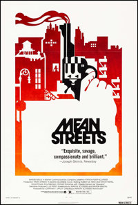 "Mean Streets (Warner Brothers, 1973). One Sheet (27"" X 40.5""). Crime"