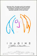 "Movie Posters:Rock and Roll, Imagine: John Lennon (Warner Brothers, 1988). One Sheet (27"" X 40.5"") Orange/Blue Style, John Lennon Artwork. Rock and Roll...."