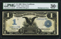 Error Notes:Large Size Errors, Back Faulty Alignment Error Fr. 233 $1 1899 Silver Certificate PMGVery Fine 30 EPQ.. ...