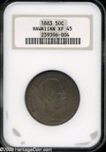 Coins of Hawaii: , 1883 50C Hawaii Half Dollar XF45 NGC....