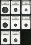 Early Proof Sets: , An 1876 Proof Set NGC. The set includes: Cent PR64 Red and Brown; Three Cent Nickel PR65 S Cameo; 1876 Nickel PR64 Cameo;... (8 Coins)