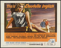 "Claudelle Inglish (Warner Brothers, 1961). Half Sheet (22"" X 28""). Drama"
