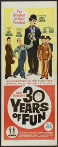 "Movie Posters:Documentary, 30 Years of Fun (20th Century Fox, 1963). Insert (14"" X 36""). Comedy Documentary...."