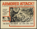"Movie Posters:War, Armored Attack (NTA, 1957). Half Sheet (22"" X 28""). Re-editedversion of The North Star (1943). War...."