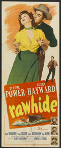 "Movie Posters:Western, Rawhide (20th Century Fox, 1951). Insert (14"" X 36""). Western...."