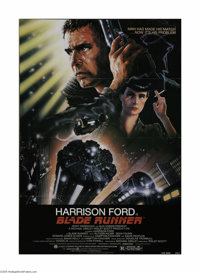 """Blade Runner (Warner Brothers, 1982). One Sheet (27"""" X 41""""). This is a folded, vintage, theater-used poster fo..."""