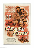 """Movie Posters:War, Cease Fire! (Paramount, 1953). One Sheet (27"""" X 41""""). This is avintage, theater-used poster for this war documentary direct..."""