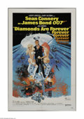"""Movie Posters:Action, Diamonds Are Forever (United Artists, 1971) One Sheet (27"""" X 41"""").This is a vintage, theater used poster for this Bond thri..."""