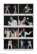 "Movie Posters:Musical, Elvis on Tour (MGM, 1972). Lobby Card Set of 8 (11"" X 14""). This is a vintage, theater-used lobby card set for this music do... (8 items)"