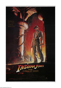 """Indiana Jones and the Temple of Doom (Paramount, 1984). One Sheet (27"""" X 41""""). This is a folded, vintage, thea..."""
