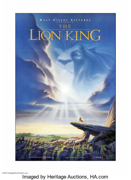The Lion King Buena Vista 1994 One Sheet 27 X 41 This Is A Lot 25052 Heritage Auctions