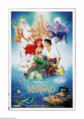 "Movie Posters:Animated, The Little Mermaid (Buena Vista, 1989). One Sheet (27"" X 41""). This is a folded, two-sided, vintage, theater-used poster for..."