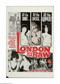 """Movie Posters:Documentary, London in the Raw (Olympic International, 1964). One Sheet (27"""" X 41""""). This is a vintage, theater-used poster for this adul... (1 )"""