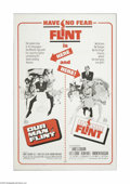 "Movie Posters:Adventure, Our Man Flint/In Like Flint Combo (20th Century Fox, R-1967). OneSheet (27"" X 41""). This is a vintage, theater-used poster ..."