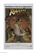 "Movie Posters:Adventure, Raiders of the Lost Ark (Paramount, R-1982). One Sheet (27"" X 41"").This is a folded, vintage, theater-used poster for this ..."