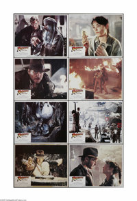 """Raiders of the Lost Ark (Paramount, 1981). Lobby Card Set of 8 (11"""" X 14""""). This is an original, theater-used..."""