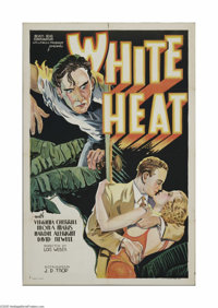 """White Heat (J.D. Trop, 1934). One Sheet (27"""" X 41""""). This is a folded, vintage, theater-used poster for this e..."""
