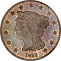 Patterns, 1863 3C Three Cents, Judd-319, Pollock-384, R.5, PR65 Red and BrownPCGS....