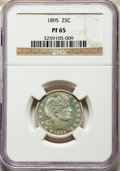 Proof Barber Quarters, 1895 25C PR65 NGC....