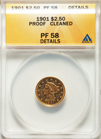 1901 $2 1/2 -- Cleaned -- ANACS. PR58 Details. JD-1, Low R.4....(PCGS# 7927)