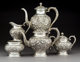 A Five-Piece S. Kirk & Son Repoussé Pattern Silver Tea and Coffee Service, Baltimore, Maryland, early 20t...