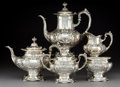 Silver Holloware, American:Tea Sets, A Five-Piece Reed & Barton Francis I Pattern Silver Teaand Coffee Service, Taunton, Massachusetts, designed 190... (Total:5 Items)