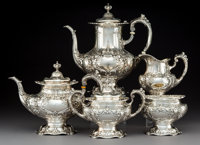 A Five-Piece Reed & Barton Francis I Pattern Silver Tea and Coffee Service, Taunton