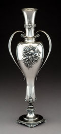 Silver Holloware, American:Vases, A Tiffany & Co. Silver Two-Handled Vase, New York, 1892-1902.Marks: TIFFANY & CO, 11082 MAKERS 1446, STERLING SILVER,925...