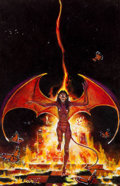 Original Comic Art:Miscellaneous, Don Maitz Dragons of Darkness Paperback Novel CoverPreliminary Painting Original Art (Ace Books, 1983)....