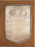 Football Collectibles:Others, 1970 MacArthur Bowl Plaque Presented to Joint National Champions University of Texas and Ohio State....