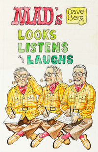 Dave Berg MAD's Dave Berg Looks, Listens and Laughs Paperback Book Cover Preliminary and Final Original Art (Warne... (T...