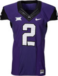 Football Collectibles:Uniforms, 2014-15 Trevone Boykin Game Worn TCU Horned Frogs Jersey. ...
