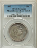 Coins of Hawaii , 1883 50C Hawaii Half Dollar -- Mount Removed -- PCGS Genuine. AU Details. NGC Census: (33/349). PCGS Population: (73/472). ...