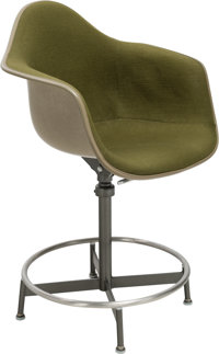 Charles Eames (American, 1907-1978) and Ray Kaiser Eames (American, 1912-1988) Drafting Stool EC 118, d