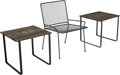 Furniture : American, Hendrik Van Keppel (American, 1914-1988) and Taylor Green(American, 1914-1991). Outdoor Chair and Two Tables from CraigE... (Total: 3 Items)
