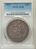 Trade Dollars: , 1877 T$1 XF40 PCGS. PCGS Population: (108/636). NGC Census: (50/525). XF40. Mintage 3,039,710. ...