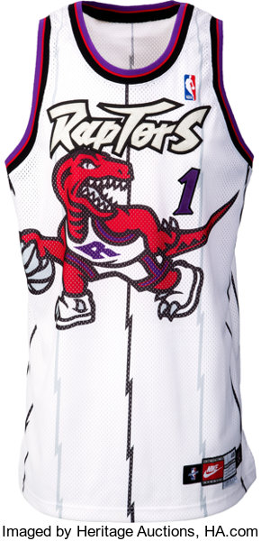 aeae2df3954 ... Basketball Collectibles:Uniforms, 1997-98 Tracy McGrady Game Worn  Toronto Raptors Rookie Jersey ...