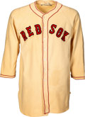 Baseball Collectibles:Uniforms, 1948-50 Joe McCarthy Game Worn Boston Red Sox Jersey, MEARS A7--Only Known Example!...