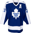 Hockey Collectibles:Uniforms, 1985-86 Borje Salming Game Worn Toronto Maple Leafs Jersey....