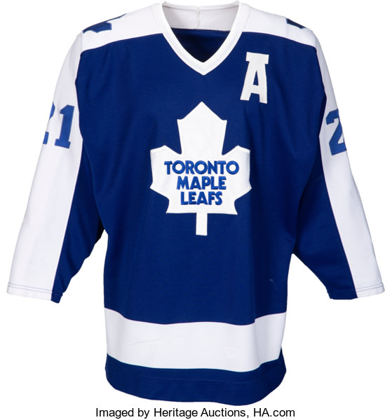 differently e314c 66f98 1985-86 Borje Salming Game Worn Toronto Maple Leafs Jersey ...